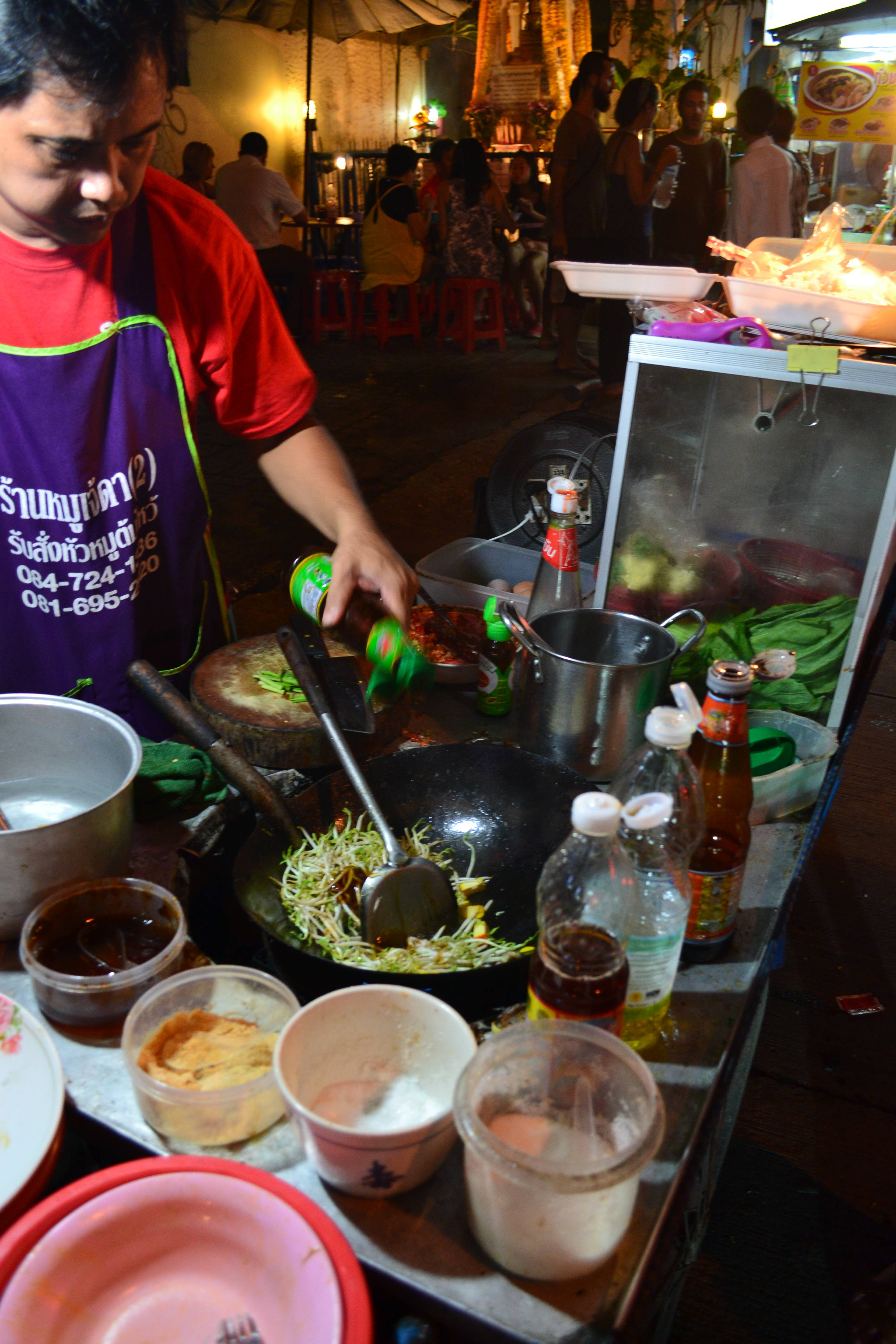 You may have to 'wok' a long time until you find vegetarian food